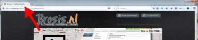 Voorbeeld title-tag tabblad browser